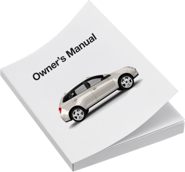 An owner's manual for a vehicle, with an image of a silver SUV on the cover