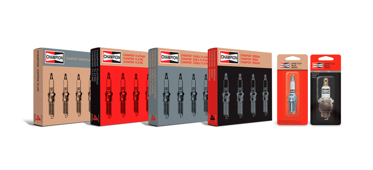 Package view wipers oil filter spark plugs by Champion
