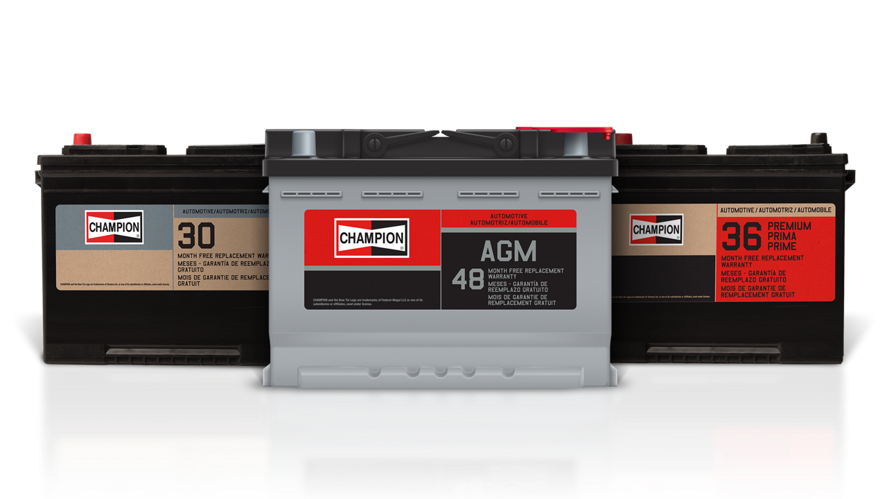 Champion Offers A Range Of Automotive Batteries Backed By Free Replacement Warranties To Give You Peace Mind