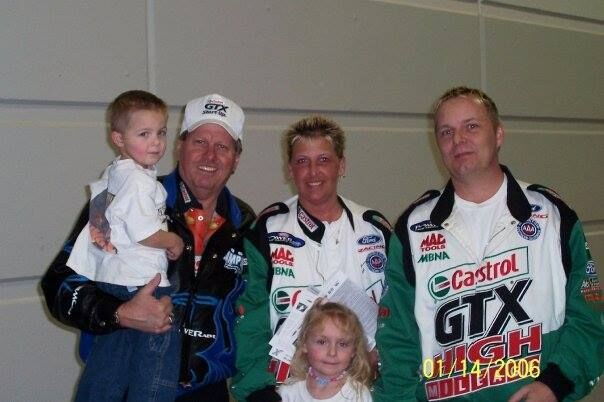 Image 1, Cole and family at first race