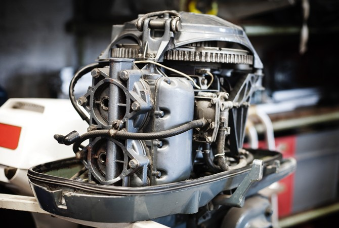 Boat-Engine-With-Cowling-Off
